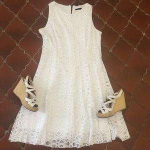 Tiana B. | White Lace Slit Dress
